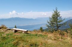 Austrian Mountains. View from top of austrian mountains above Millstatt Stock Photos