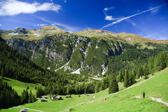 Austrian mountains. Scenic view of Tirol mountains, Austria Royalty Free Stock Photo
