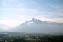 Austrian mountains. A distant view of Austrian mountains near Vienna Royalty Free Stock Photo