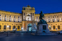 Austrian National Library at night Stock Photos