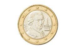 Austrian one euro coin Royalty Free Stock Photo