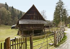Austrian Open-Air museum Stuebing near Graz: Barn, Eggart near G Stock Image