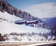 Austrian panorama in winter Stock Images