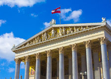Austria. The Austrian Parliament Building in Vienna Royalty Free Stock Image