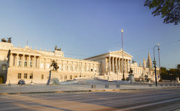 Austrian Parliament building in the early morning, stock image
