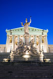 Austrian Parliament Building at night Royalty Free Stock Photos