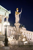 Austrian Parliament Building at night Royalty Free Stock Image