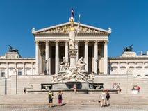 The Austrian Parliament Building (Parlamentsgebaude) In Vienna Stock Photos