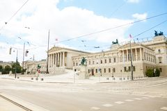Austrian Parliament Building Royalty Free Stock Images
