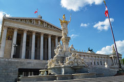 The Austrian Parliament Building in Vienna.  Royalty Free Stock Images