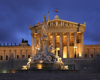 Austrian Parliament Building in Vienna. Austria Royalty Free Stock Photo
