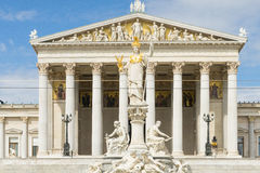 The Austrian Parliament building in Vienna, Austria Stock Image