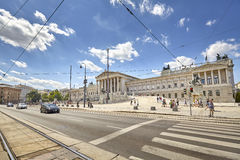 The Austrian Parliament Building. Stock Photography