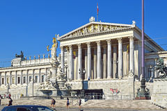 Austrian parliament building in Vienna, Austria Royalty Free Stock Images