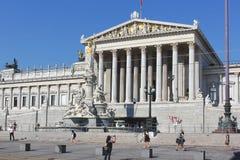 Austrian parliament building in Vienna stock image
