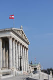 Austrian Parliament building in Vienna Royalty Free Stock Images