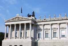 Austrian Parliament building in Vienna Royalty Free Stock Image