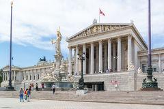 Austrian Parliament building in Vienna Stock Photography