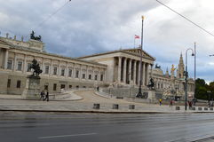 The Austrian Parliament Building in Vienna Royalty Free Stock Photography