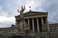The Austrian Parliament Building in Vienna Stock Photos