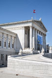 The Austrian Parliament Building in Vienna Stock Photo