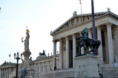 The Austrian parliament Stock Photography