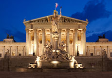 Free Austrian Parliament In Vienna At Night Stock Images - 14960964