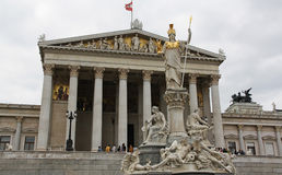 Austrian Parliament Royalty Free Stock Images