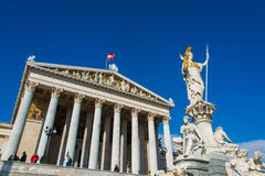 Austrian Parliament on October 13 in Vienna Royalty Free Stock Photos