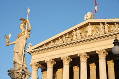 The Austrian Parliament and statue of Pallas Athena in Vienna, A Stock Images