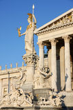 The Austrian Parliament and statue of Pallas Athena in Vienna, A Royalty Free Stock Image