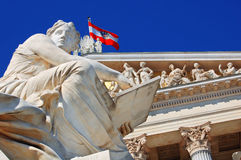 Austrian parliament, Vienna Royalty Free Stock Photos