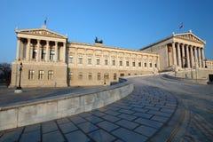 Austrian Parliament in Vienna Stock Photography