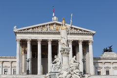 Austrian parliament in Vienna Royalty Free Stock Photography
