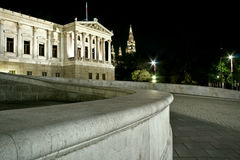 Austrian Parliament from Vienna Royalty Free Stock Photos