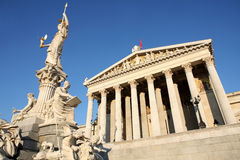 Austrian Parliament in Vienna, Austria Stock Image