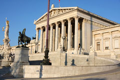 Austrian Parliament in Vienna, Austria Royalty Free Stock Image