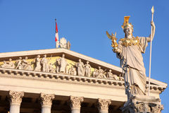 The Austrian Parliament in Vienna, Austria Royalty Free Stock Photography