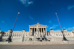 Austrian Parliament in Vienna Royalty Free Stock Photos