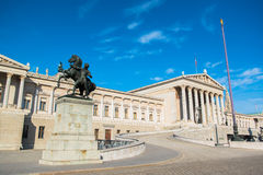 Austrian Parliament in Vienna Royalty Free Stock Image
