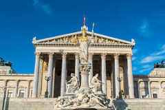 Austrian Parliament in Vienna Stock Photography