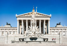 Austrian parliament in Vienna, Austria Royalty Free Stock Photo