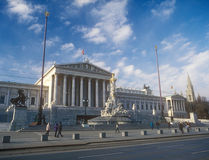 Austrian parliament in Vienna, Austria. Royalty Free Stock Photography
