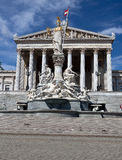 Austrian Parliament Vienna Pallas Athena Royalty Free Stock Image