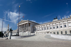 Austrian Parliament Vienna Royalty Free Stock Photos