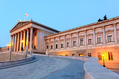 Austrian Parliament in Vienna at sunrise, Royalty Free Stock Images