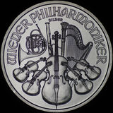 Austrian Philharmonic Silver Coin (Obverse) Royalty Free Stock Photos