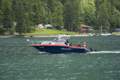 Austrian Police Boat Royalty Free Stock Photography