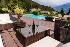 Austrian pool lounge Royalty Free Stock Photography