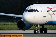 Austrian A319 ready for take-off Stock Photos